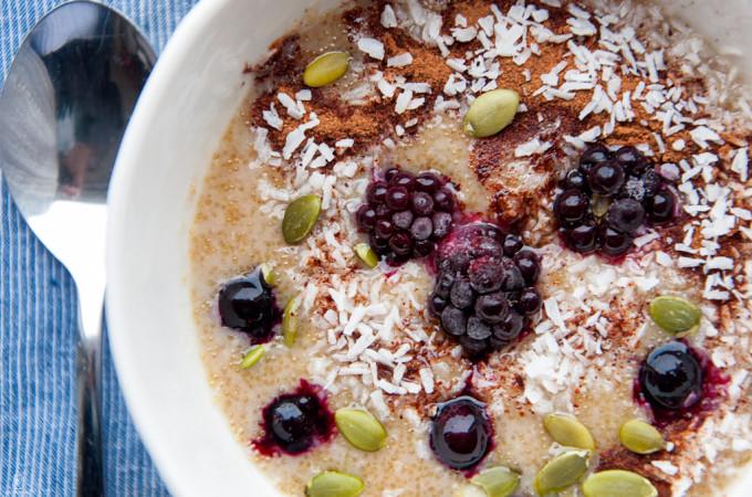 Coconut Amaranth Porridge/ Χυλος αμαραντου και καρυδας