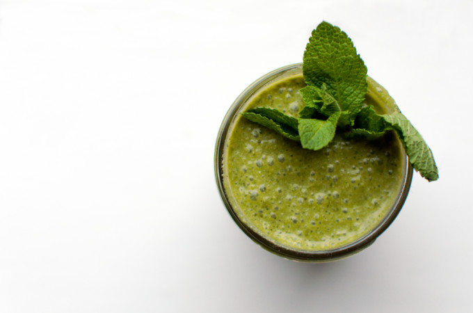 Matcha Mojito Green Smoothie
