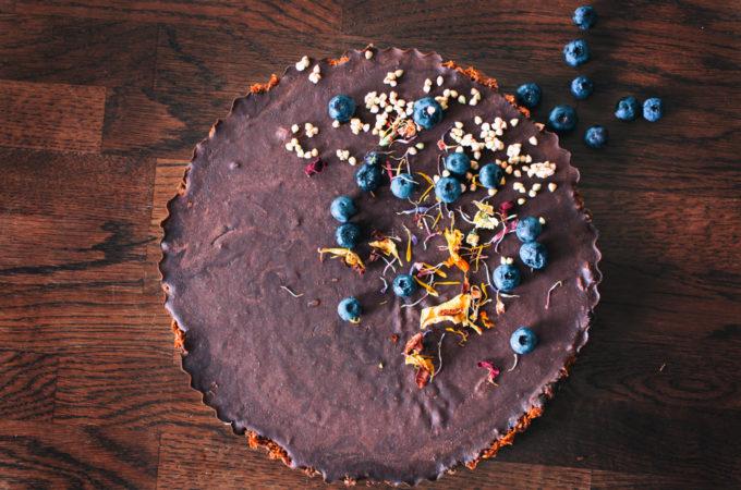 Ταρτα με σοκολατα και καρδαμο