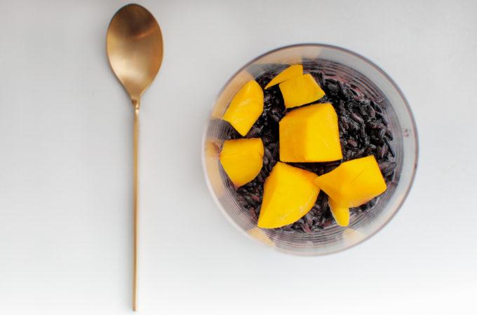 Αγριο ρυζογαλο με μανγκο