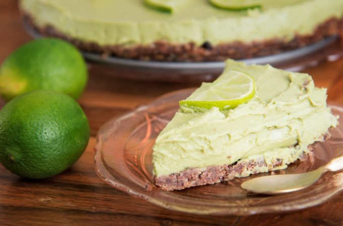 Key matcha lime pie
